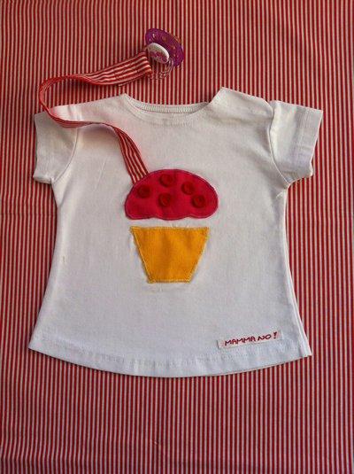 Maglietta porta-ciuccio MAMMANO bimba sweet