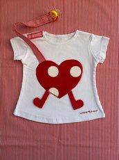 Maglietta porta-ciuccio MAMMANO bimba cuore