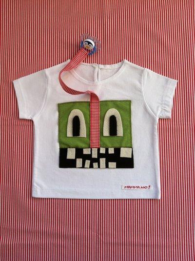 Maglietta porta-ciuccio MAMMANO bimbo mostro verde