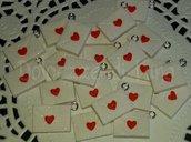 2 pezzi ciondolo charm busta da lettere in fimo fatta a mano senza stampi per orecchini o bracciali