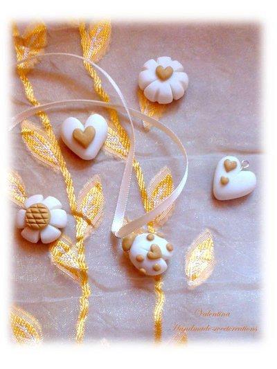 Per Chiara- 70 pezzi charm bianco oro- bomboniera matrimonio