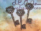 Chiave Steampunk bronzo 71x32mm