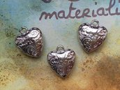 Charm cuore argento 24x27mm