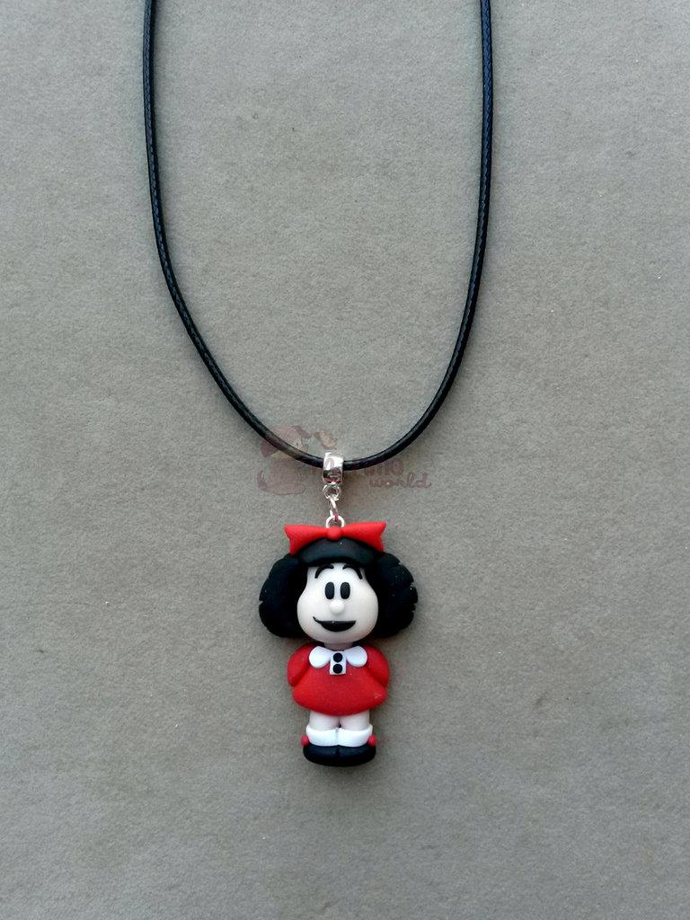 collana con Mafalda fimo