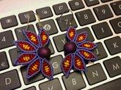 Orecchini Flower lavorati con tecnica macramè
