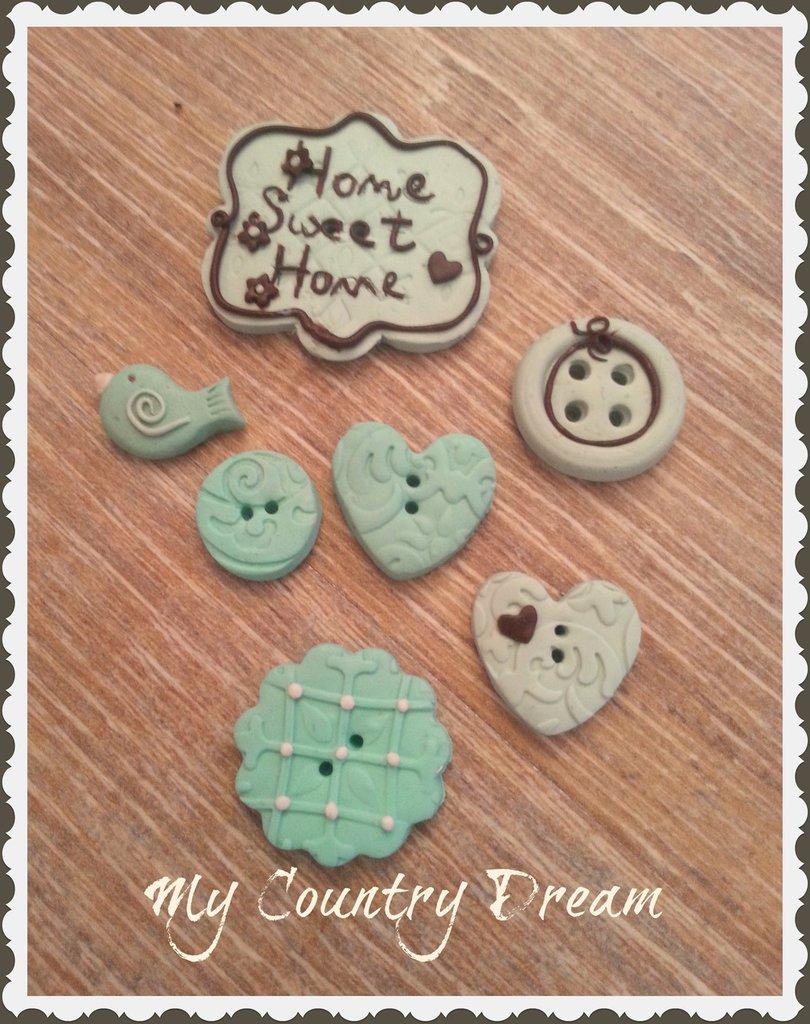 """Bottoni """"Home sweet Home"""""""
