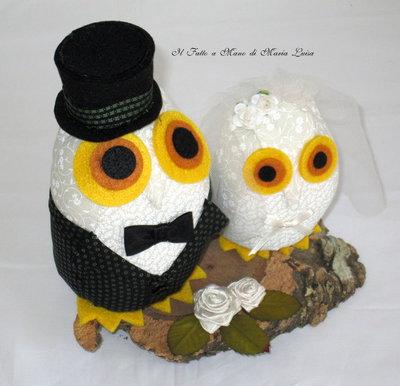 Gufi sposi per matrimoni ed anniversari
