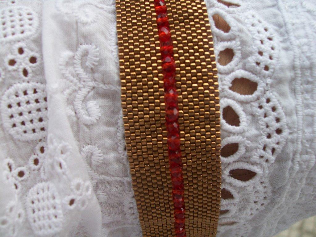 bracciale fascia oro