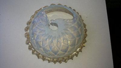 Coppa opalino e polvere oro, ricambio per lampadari
