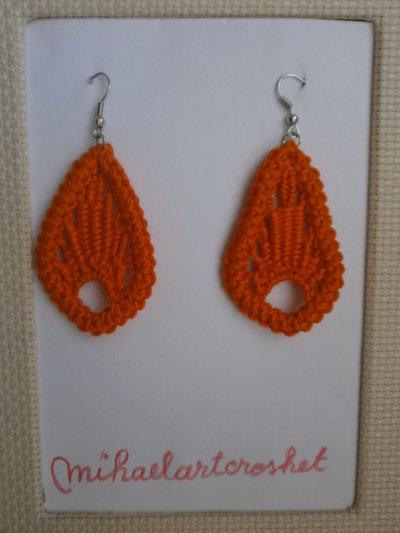 Orecchini Foglie Arancione