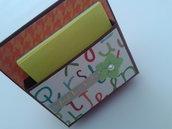 Porta post-it da tavolo in cartoncino pesante con decorazioni personalizzabili