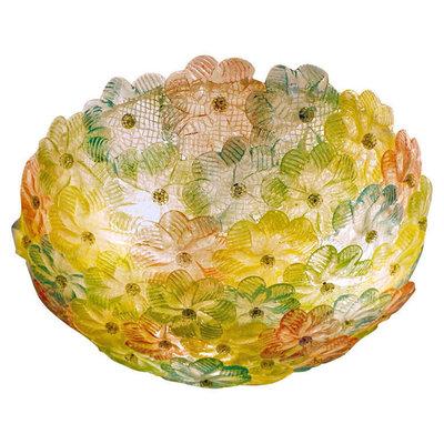 Roxette plafoniera con rosette cristallo oro cm 45