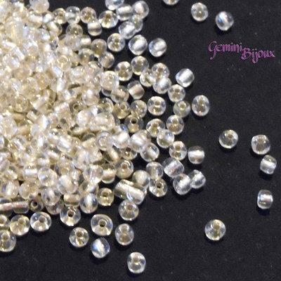 Conteria economica in vetro 4 mm. crystal, lotto da 50 grammi