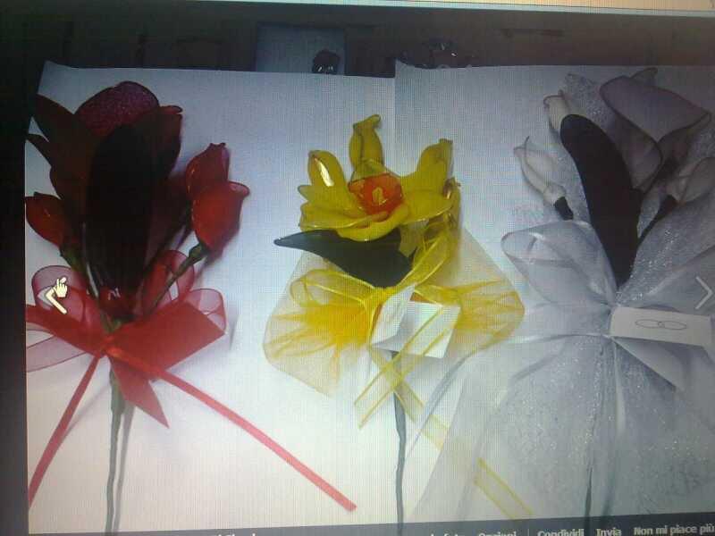 Bomboniere o segnaposto fiori portaconfetti