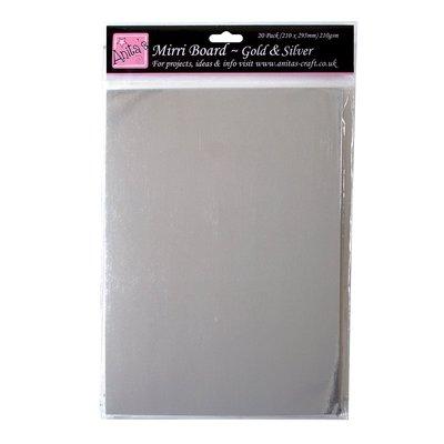 A4 Mirri Board - Gold & Silver