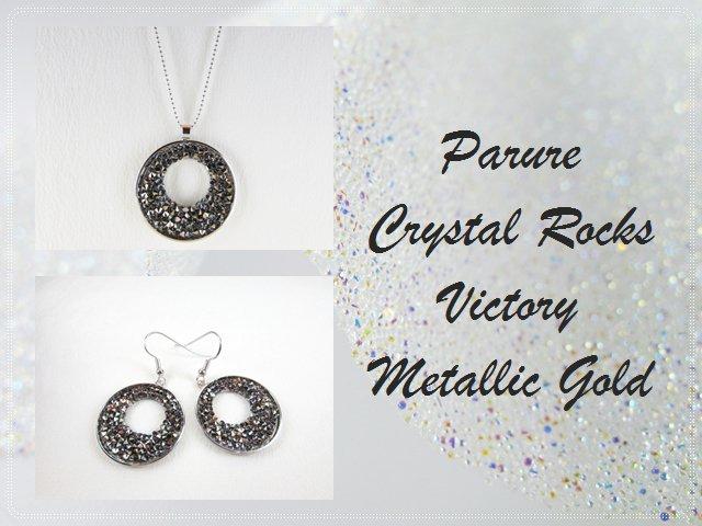 """Metallic Gold"" - Parure in cristallo Swarovski"