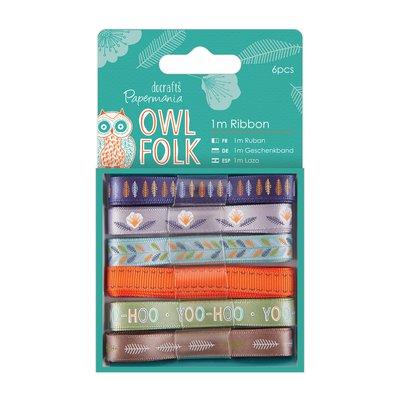 Set 6 nastri - Owl Folk