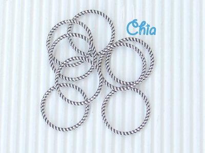 10 connettori anelli 18 mm in metallo anticato