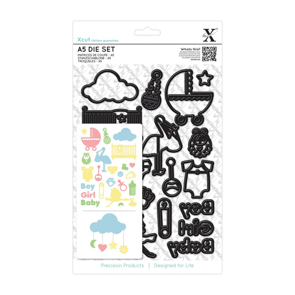 Set fustelle A5 Xcut - New Baby Icons
