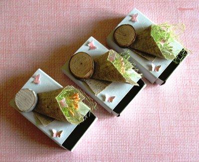 Scatoline SegnaPosto - Mini Bomboniera Porta Confetti per Matrimonio - *GreenCollection* Shabby&EcoChic