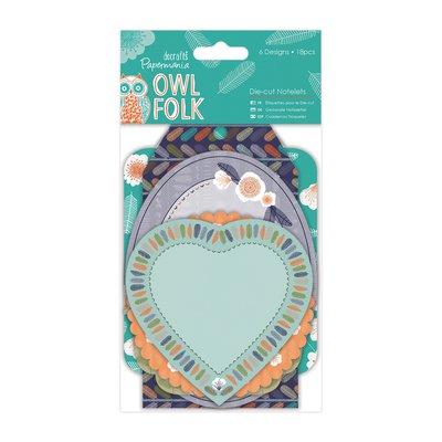 Die-cut Notelets - Owl Folk