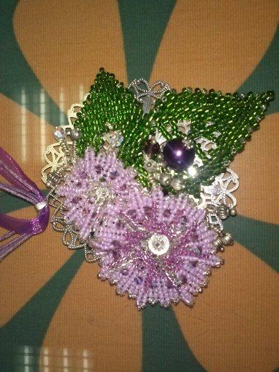 pendente argento lilla