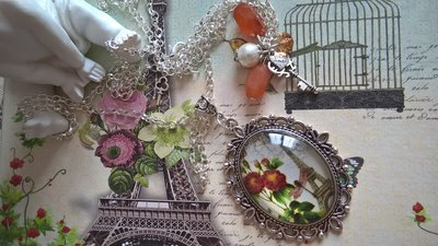 Cabochon argento farfalloso