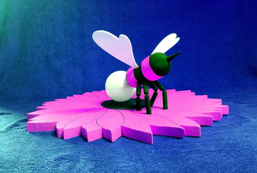 Lampada fiore con ape rosa luce cameretta lampada per bambini