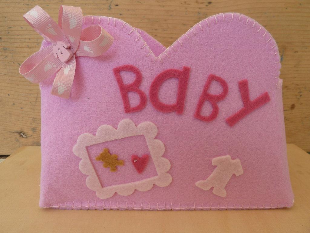 Porta tutto bebè in feltro decorato