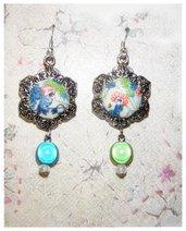 """orecchini """"fantasia in verde e turchese"""""""