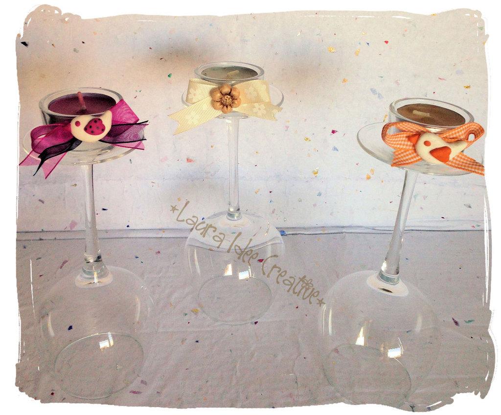Portacandele decorati per segnaposto o bomboniere feste bombon su misshobby - Idee per segnaposto ...