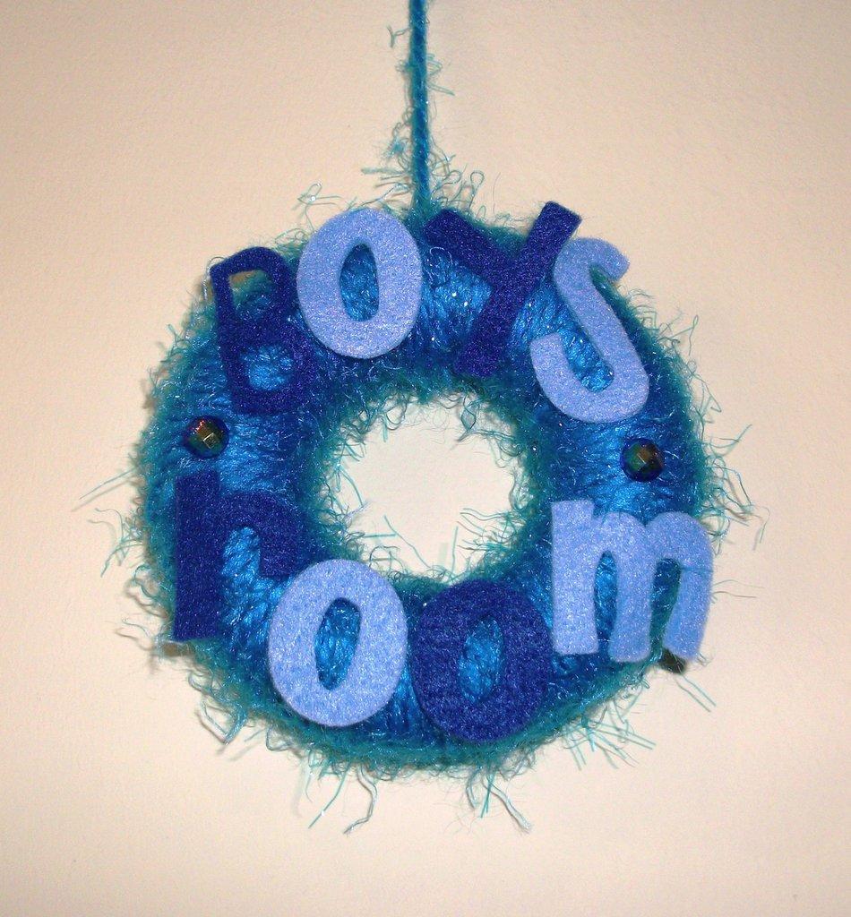 Ghirlanda Decorativa Fuoriporta per Cameretta Bimbi - Blue Boys Room^^