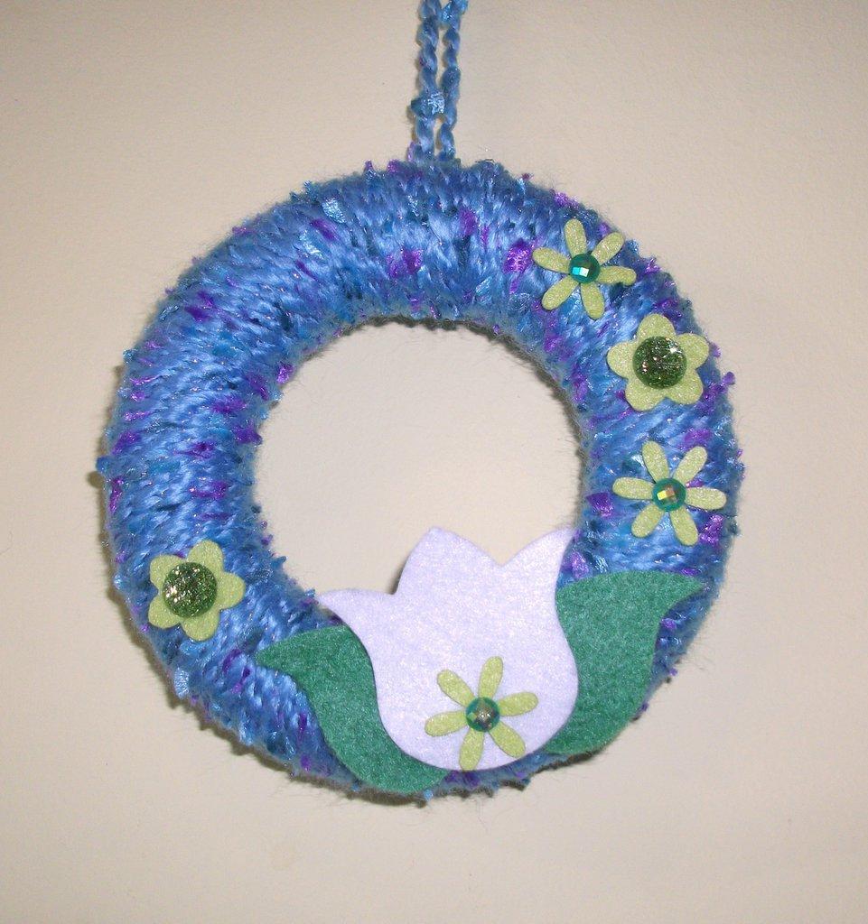 Ghirlanda Decorativa Fuoriporta o da Parete - White Tulip^^