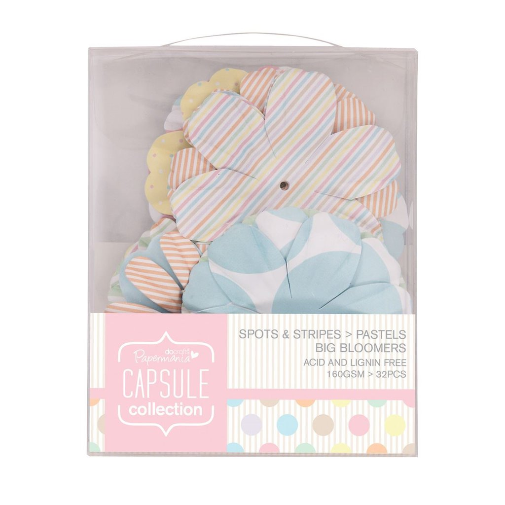 Big Bloomers - Spots & Stripes Pastels