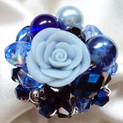 "Anello ""Deep blue"""