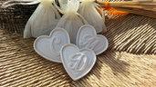 Gessetti cuore , cuoricino,segnaposto, 6x6,5cm bomboniere, nascita,matrimonio, casa,battesimo ,laurea