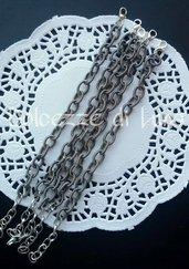 base bracciale grigio  catena di  seta senza nikel perfetto per bracciali con ciondoli in fimo