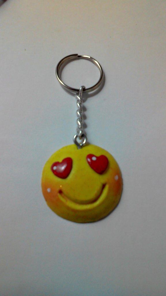 portachiavi smile giallo
