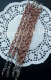 base bracciale MARRONE CIOCCOLATO CHIARO catena di seta senza nikel perfetto per bracciali con ciondoli in fimo