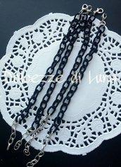 base bracciale NERO  catena di seta senza nikel perfetto per bracciali con ciondoli in fimo