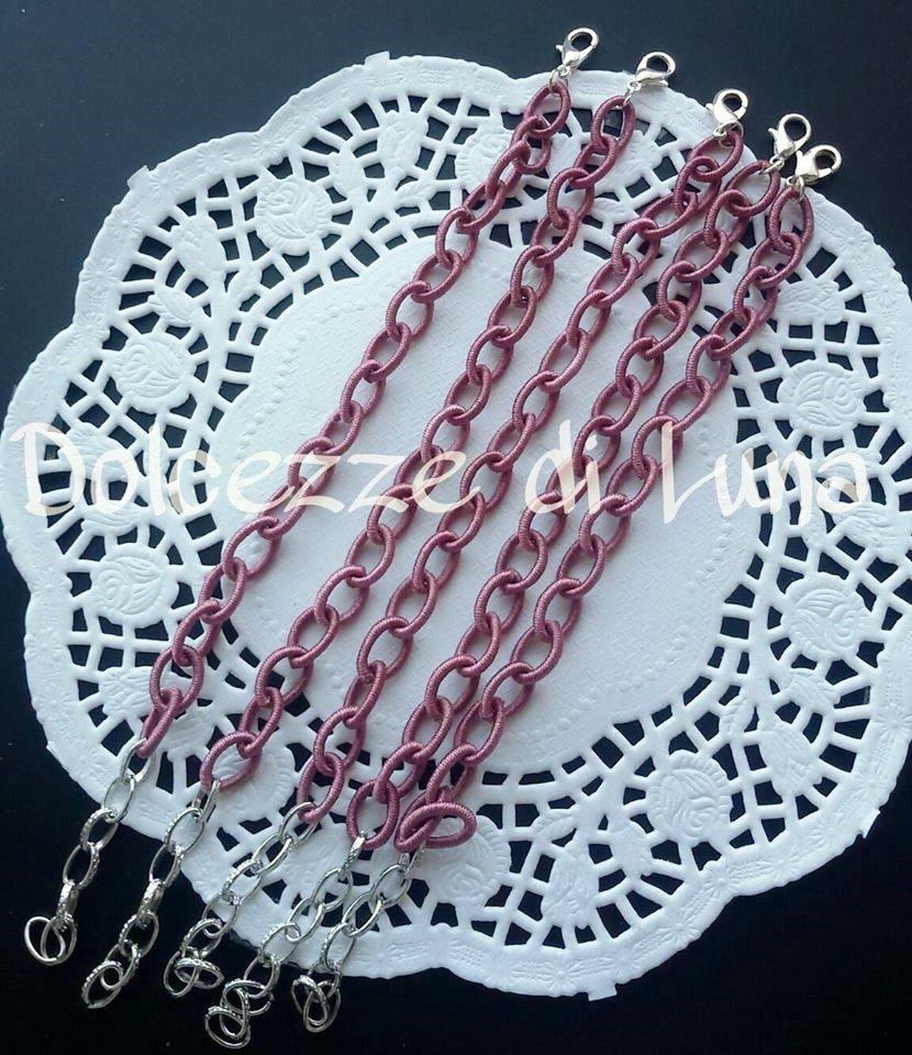 base bracciale vinaccia  catena di eta senza nikel perfetto per bracciali con ciondoli in fimo