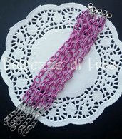 base bracciale viola chiaro, violetto  , catena di seta senza nikel perfetto per bracciali con ciondoli in fimo
