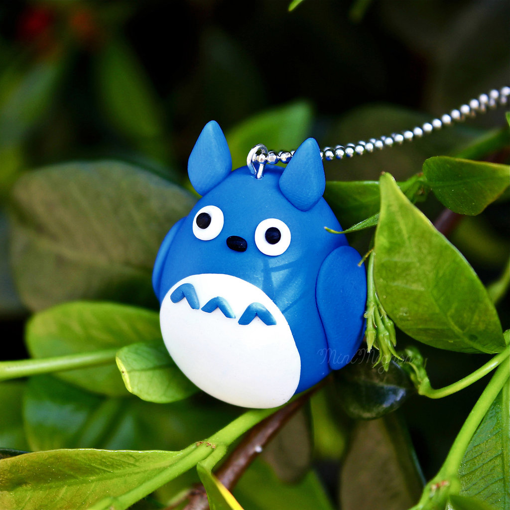 """Collana lunga """"Totoro"""" color blu"""