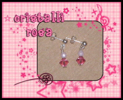 """Orecchini """"Cristalli Rosa"""""""