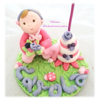 Per Giovanna- cake topper bimba