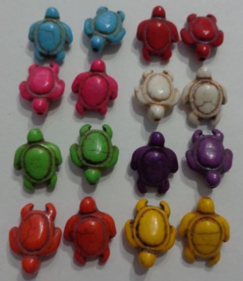 16 Perline Tartarughe 8 colori