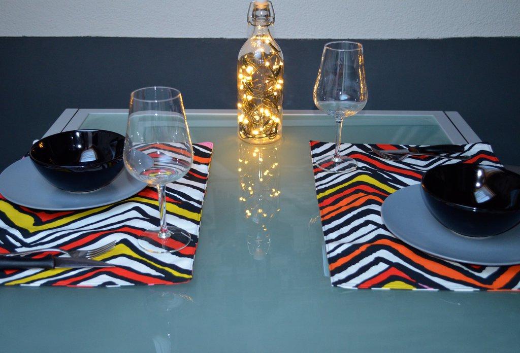 Set tovagliette in cotone multicolor