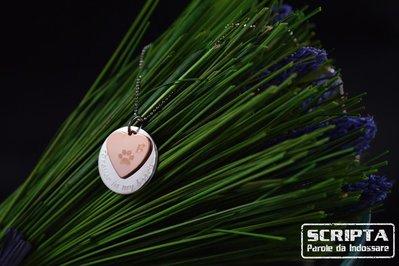Cuoriciondolo - Ciondolo argento con cuore rame