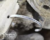 Bracciale bangle argento Incisione personalizzata