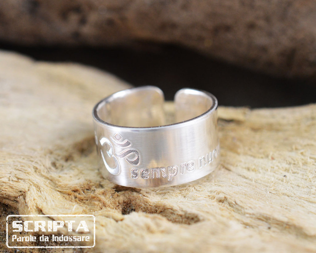 Anello argento inciso